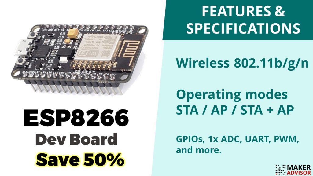 Grab an ESP8266 Dev Board For 50% Off - Maker Advisor