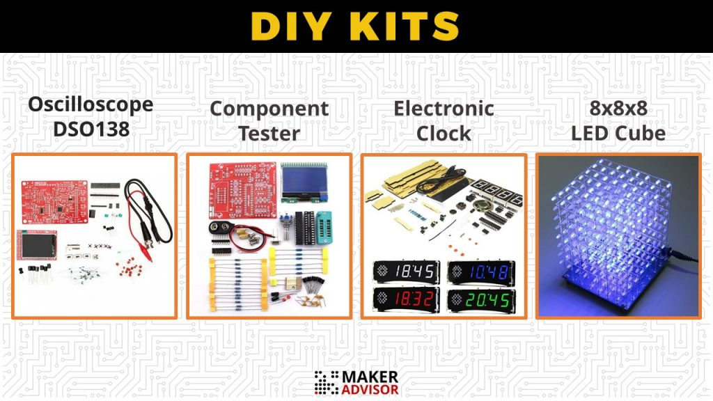 4 diy kits you can build in a weekend maker advisor in this post we feature 4 diy kits for those who like electronics and circuits a digital oscilloscope kit a component tester kit an alarm clock kit solutioingenieria Image collections