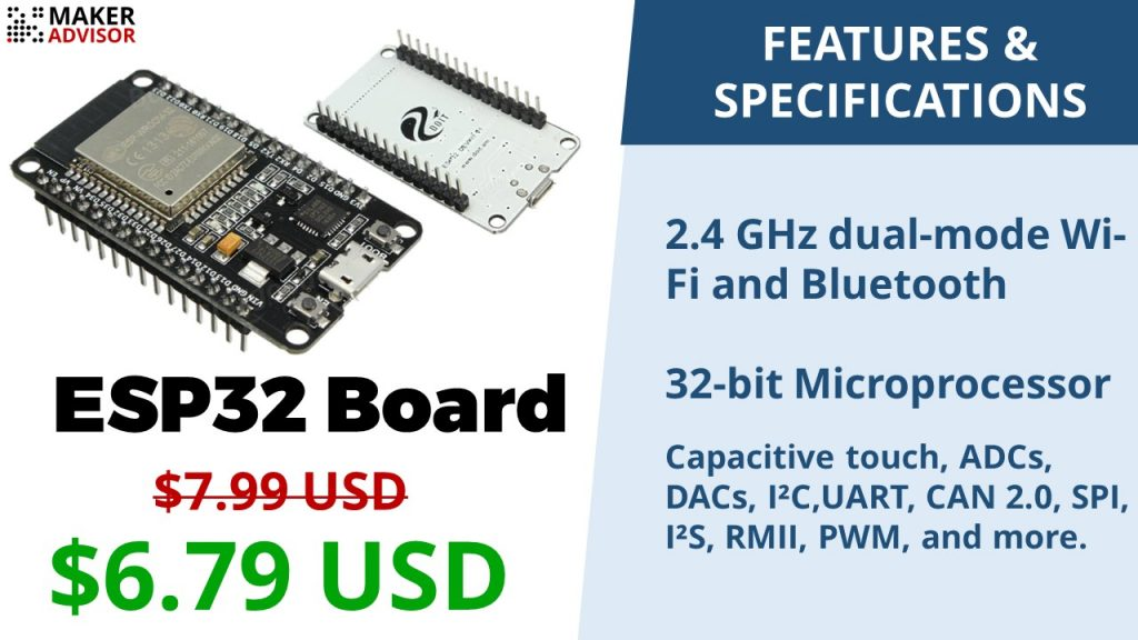 Get Yourself an ESP32 Board with Wi-Fi+Bluetooth