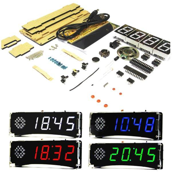 DIY KIT - Electronic Clock with Voice and Temperature