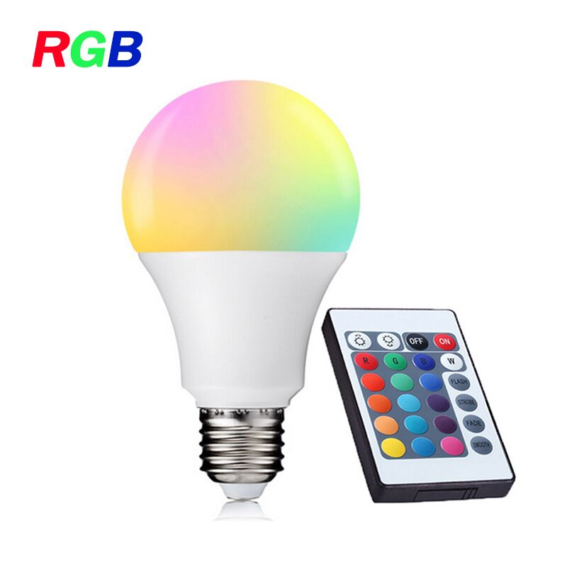 Aliexpress - E27 RGB LED Bulb with IR Remote Control LED Lamp Cold White/Warm White