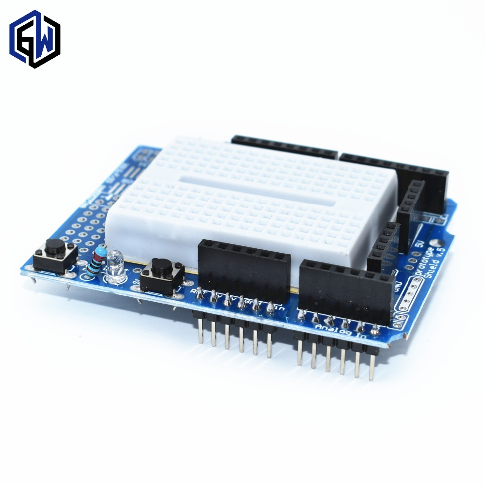 Aliexpress - Proto Shield prototype expansion board for Arduino with mini breadboard