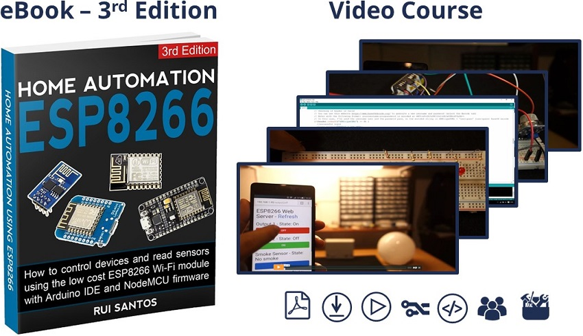 Download Home Automation using ESP8266 course for 30% off - Maker