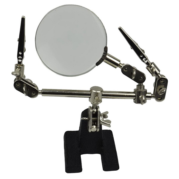 Banggood - 4X helping Hand Repair Maintain Magnifier Glass 2 Alligator Clamp