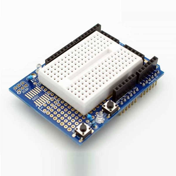 Banggood - Proto Shield prototype expansion board for Arduino with mini breadboard