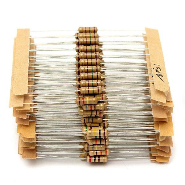 Banggood - 1000pcs - 50 Values 1/4w 2.2Ω~2.2MΩ Carbon Film Resistor Kit with Storage Box