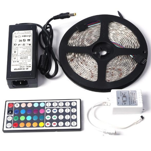 Banggood - 5050 150leds Strip Light RGB Waterproof DC 12V 5A Power Supply 44 Key IR Controller