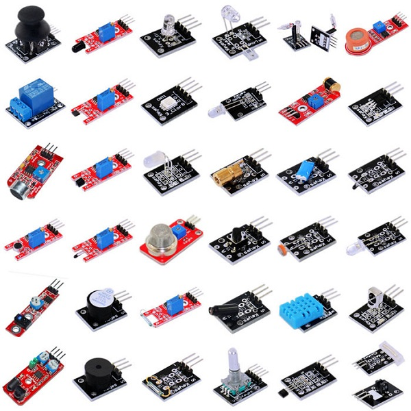 Banggood - 37 in 1 Sensor Modules Kit for Arduino