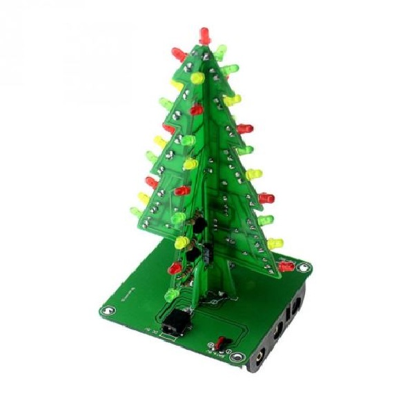 Geekcreit® Christmas Tree LED Flash Kit 3D DIY Electronic Learning Kit