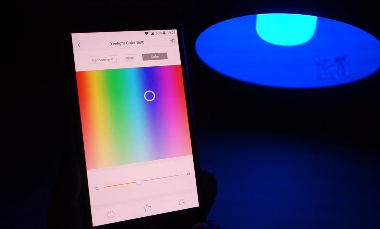 Xiaomi Yeelight Rgbw Smart Bulb Review Maker Advisor 2 Colorful Led Wifi Select The Color Tab At Top Right Corner With Picker You Can Quickly Apply A New To Always Have Slider Adjust