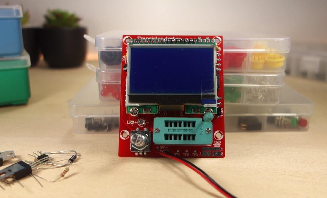 Diy Transistor Tester Kit Review Hiland M12864 Maker Advisor Test Circuit Schematic Circuits