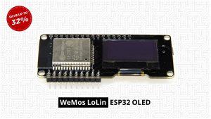 Grab a WeMos LoLin ESP32 OLED Board For 32% Off