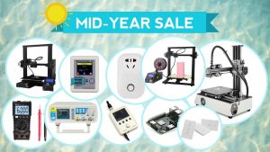 Mid-year Sale: 3D Printers, Electronics, DIY Components, Tools and Much More