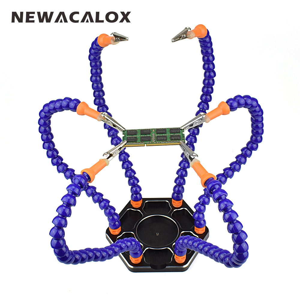 Aliexpress - NEWACALOX Multi Soldering Helping Hands Third Hand Tool with 6pcs Flexible Arms