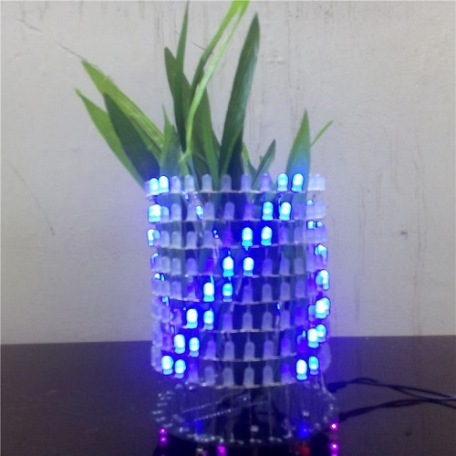 DIY Round Audio Light Column LED Music Spectrum Electronic Kit