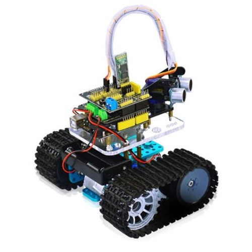 Mini Bluetooth Tank Robot Smart Car Kit