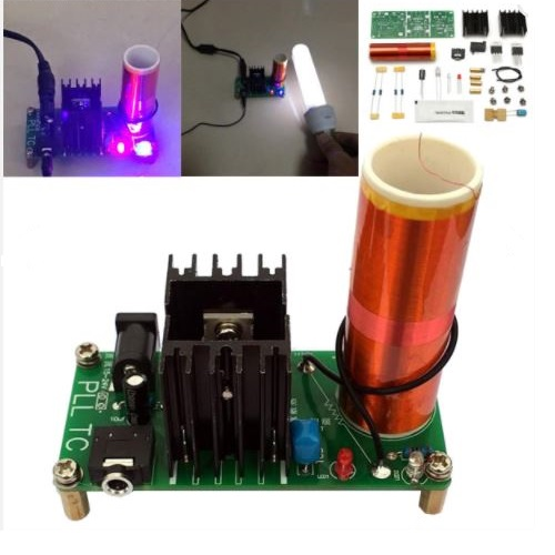 Mini Tesla Coil Plasma Speaker Kit 15W Electronic Music DIY Kit