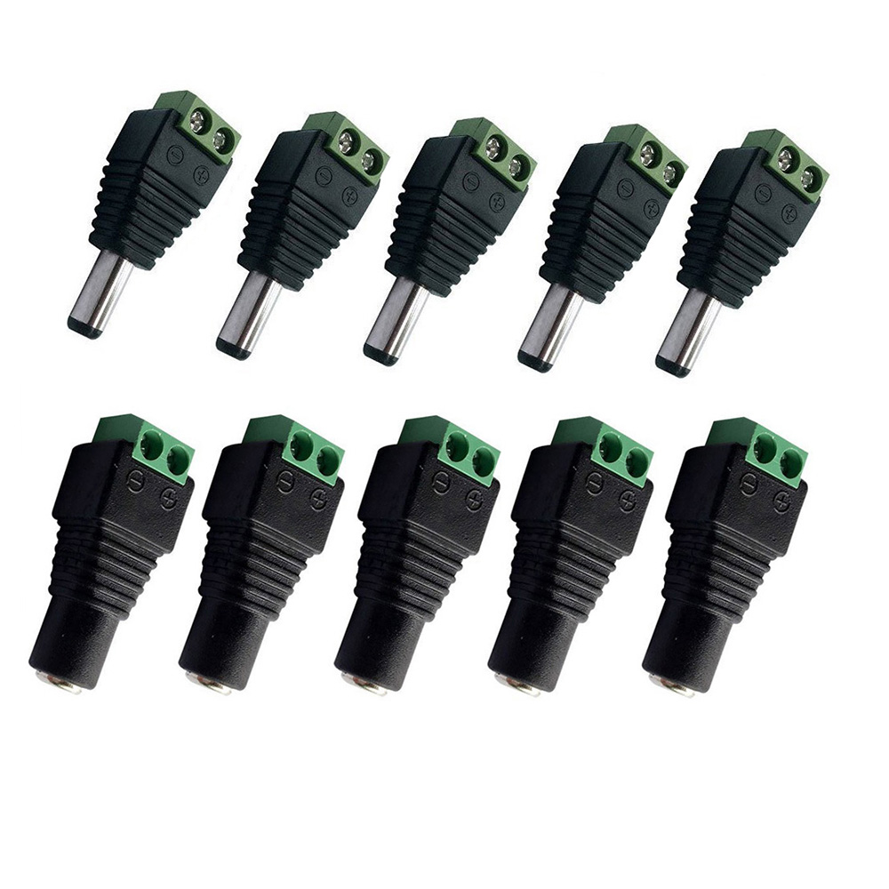 Aliexpress - 5 pairs 5.5mm x 2.1mm 12V DC Power Male & Female Jack Connector Plug Adapter