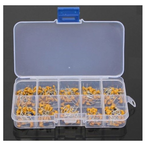 Banggood- Ceramic Capacitor Assortment Kit - Set of 300pcs: 10pF-100nF in a box