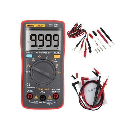 ANENG AN8008 True RMS Wave Output Digital Multimeter AC DC Current Volt Resistance Frequency Capacitance