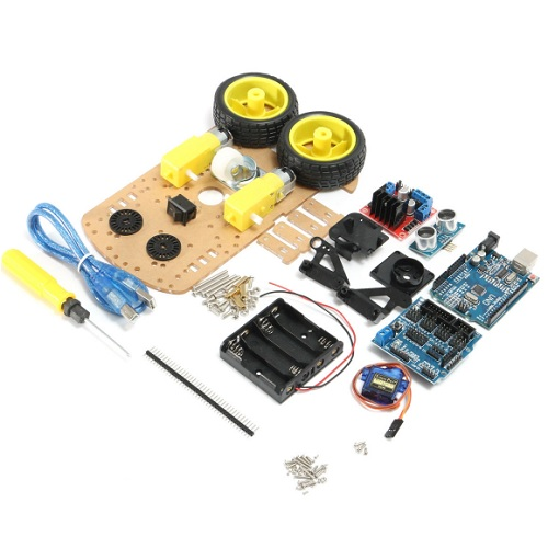 Ultrasonic Smart Tracking Motor Robot Car Kit For Arduino