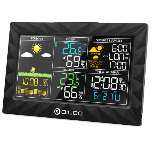 DIGOO DG-TH8988 Colorful Large Screen Weather Station