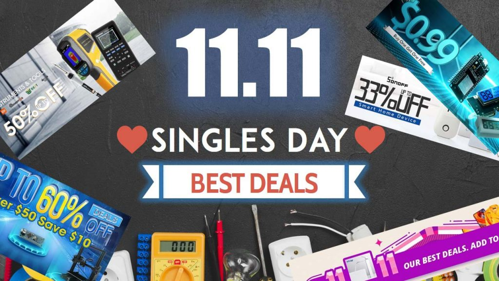 singles day deals 2018 electronics components and tools