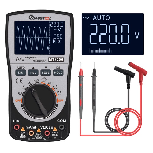 MUSTOOL MT8206 Multimeter with Waveform Display