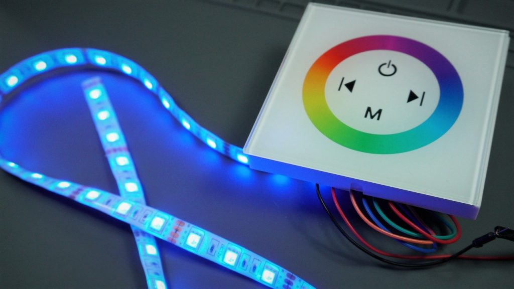 Wall Mount Touch Panel LED Controller for RGB LED Strip