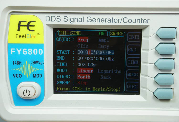 FY6800 2-Channel DDS Arbitrary Waveform Signal Generator Review