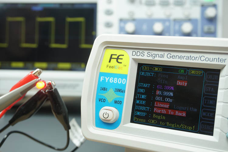 FY6800 2-Channel DDS Arbitrary Waveform Signal Generator Sweep
