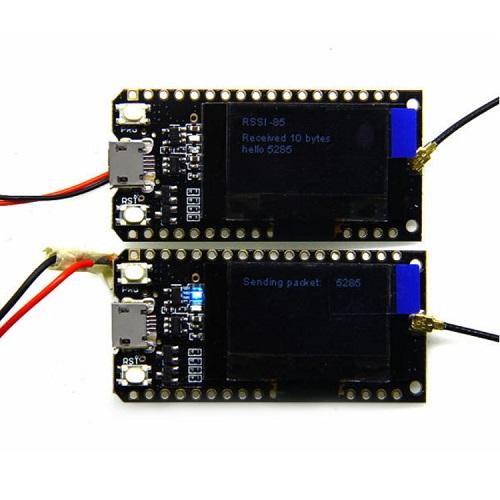 2Pcs LILYGO® TTGO LORA32 915Mhz ESP32 LoRa OLED 0.96 Inch