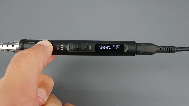 TS80 Soldering Iron On 300 Degrees Celsius