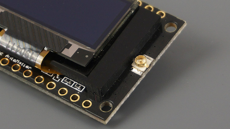 TTGO LoRa32 OLED Antenna connector