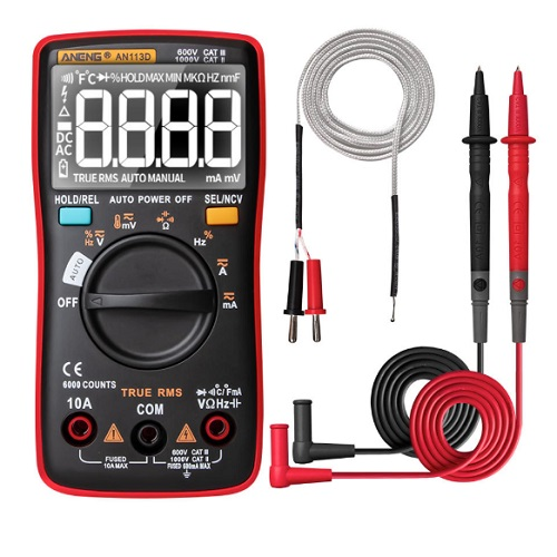 ANENG AN113D Intelligent Auto Measure True- RMS Digital Multimeter (Upgraded from AN8002)