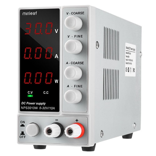 Minleaf NPS3010W 110V/220V Digital Adjustable DC Switching Power Supply 0-30V 0-10A 300W
