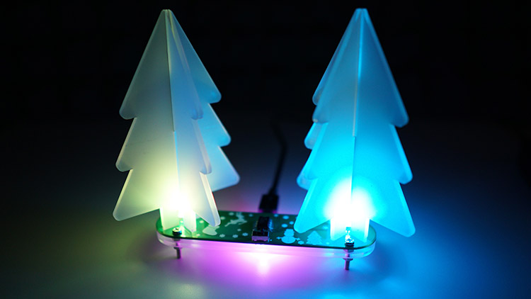 DIY Kit Electronics Christmas Tree assembled