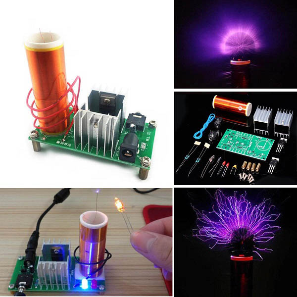 DIY Kit - Mini Tesla Coil Module 15W DC 15-24V 2A Plasma Speaker