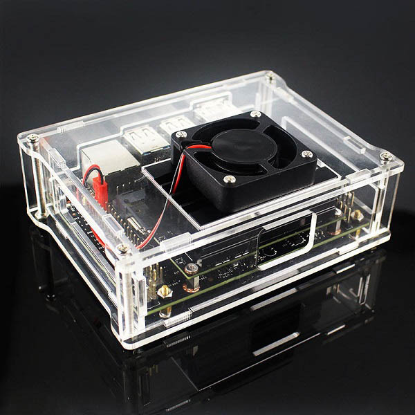 Acrylic Case Box with Cooling Fan for NVIDIA Jetson Nano Developer Kit