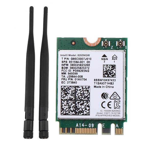 Wireless Network Card Intel 8265AC 8265NGW 2.4G/5G WIFI bluetooth 4.2 Module for NVIDIA Jetson Nano