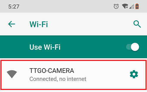 ESP32 TTGO-CAMERA Wi-Fi AP Access Point connection
