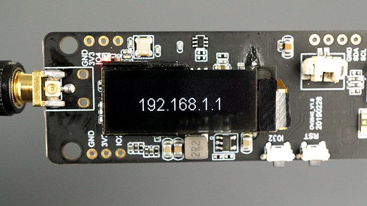 TTGO T-Journal ESP32 Camera Board Display Example IP Address on OLED Display