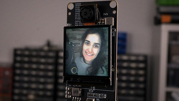 Testing the TTGO T-Camera Plus default example