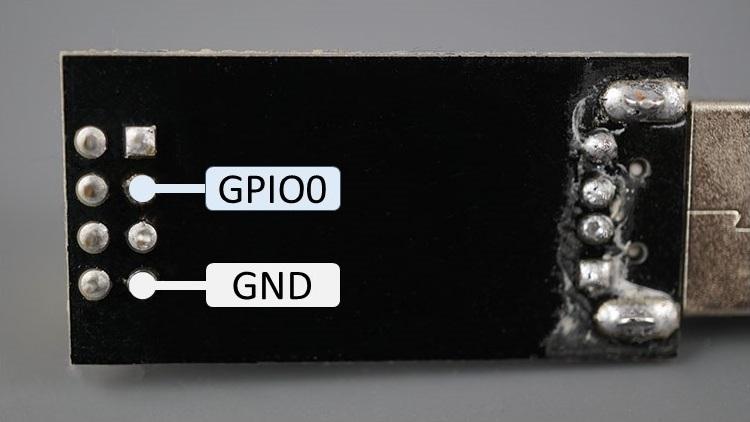 ESP8266 ESP-01 Adapter USB Programmer CH340 Serial Back GPIOs highlighted