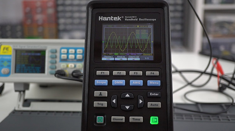 Hantek 3-in1 2D72 testing oscilloscope 2 channels