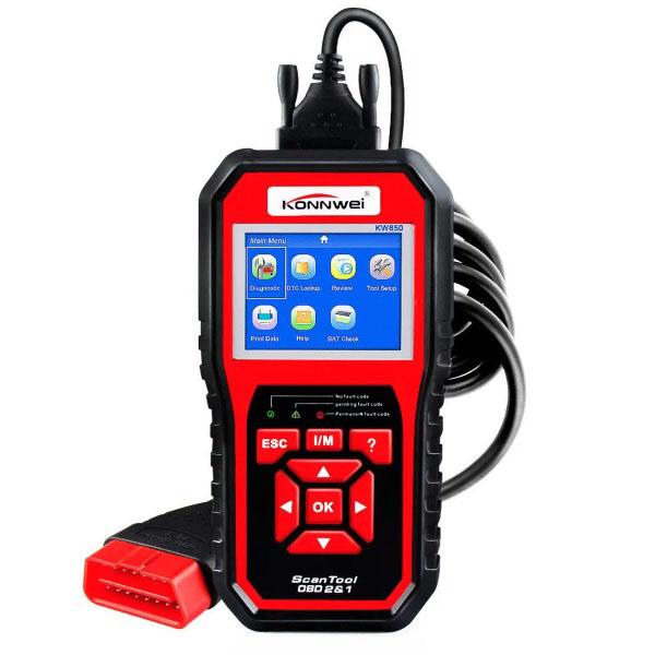KONNWEI KW850 OBD2 Car Scan Diagnostic Tool - Engine Fault Code Reader Multi-languages