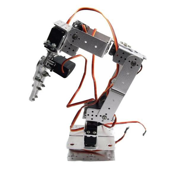 6 DOF Aluminium Robotic Arm Compatible with Arduino