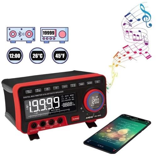 ANENG AN888S Multimeter + bluetooth Speaker + Clock + Temperature Display